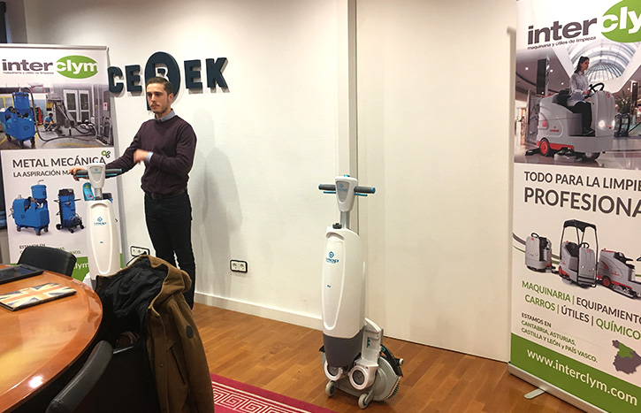 Interclym - Presentamos la fregadora IMOP a las empresas de limpieza de Bizkaia.